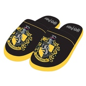 Hufflepuff Harry Potter Mule Slippers Black & Yellow Men's Large UK 8-10