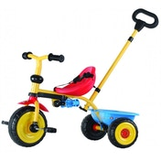 Kidzamo Trike With Push/Steer Handle Blue Flames