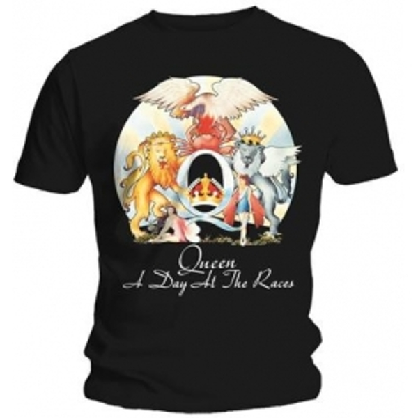 Queen A Day At The Races Mens Black T Shirt: Small