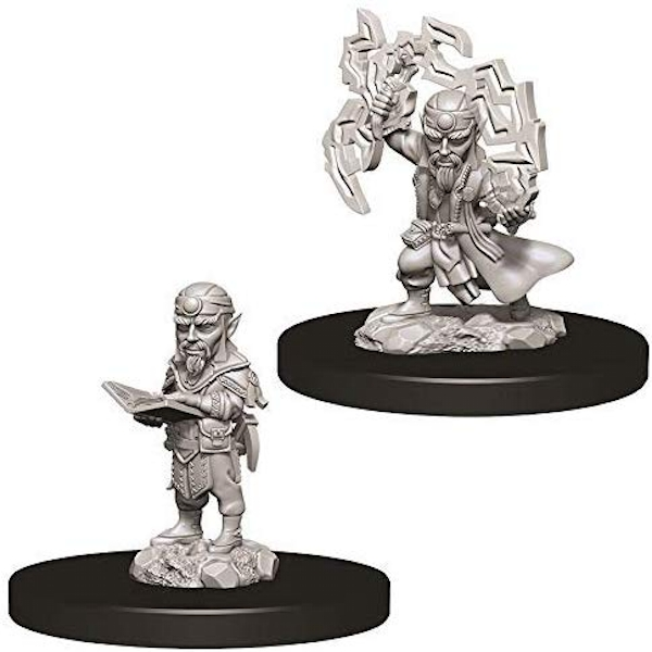 Pathfinder Deep Cuts Unpainted Miniatures - Male Gnome Sorcerer