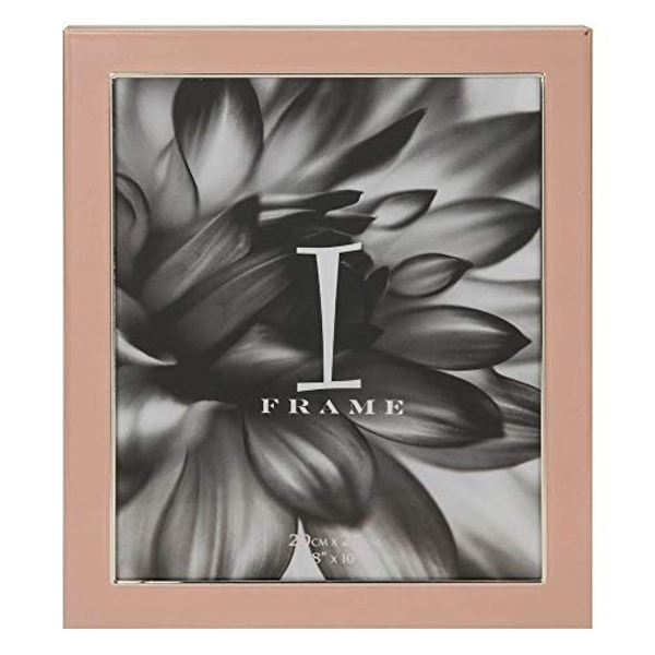"8"" x 10"" - iFrame Pink Epoxy & Silver Plated Photo Frame"