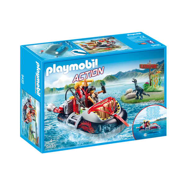 Playmobil 9435 Action Dino Hovercraft With Underwater Motor