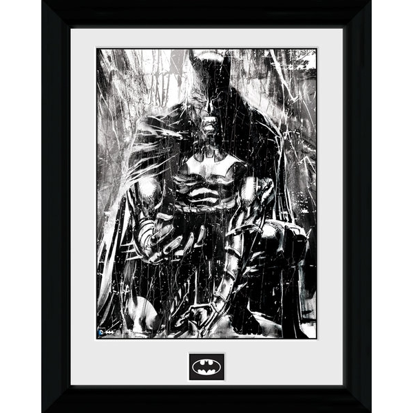 Batman Rain Framed Print