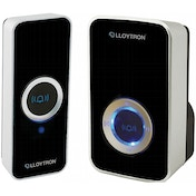 Lloytron B7505BK 32 Melody Mains Plug-in Wireless Door Chime with MiPs Black