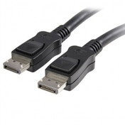 10 ft DisplayPort Cable with Latches - M/M