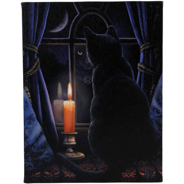 Small Midnight Vigil Canvas Picture by Lisa Parker