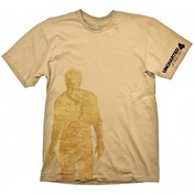 Uncharted 4 Nathan Drake Map T-shirt Beige Large