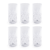 350ml Crystallised Glasses - Set of 6 | M&W