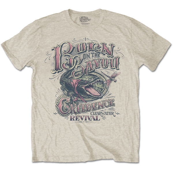 Creedence Clearwater Revival - Born on the Bayou Unisex Small T-Shirt - Neutral