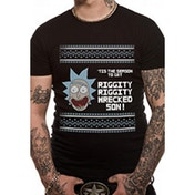 Rick And Morty - Tis The Season Men's X-Large Christmas T-Shirt - Black
