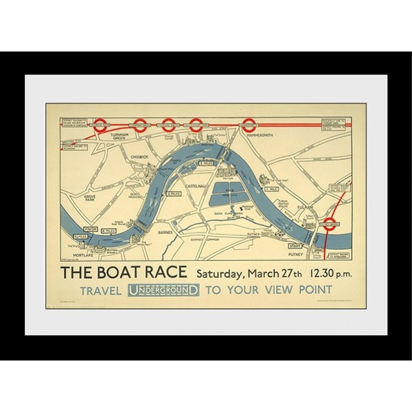 Transport For London The Boat Race 60 x 80 Framed Collector Print