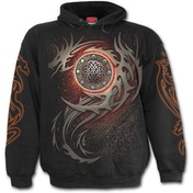 Dragon Eye Men's Large Hoodie - Black