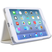 Caseflex iPad Mini 2 Leather Effect Stand Case - White