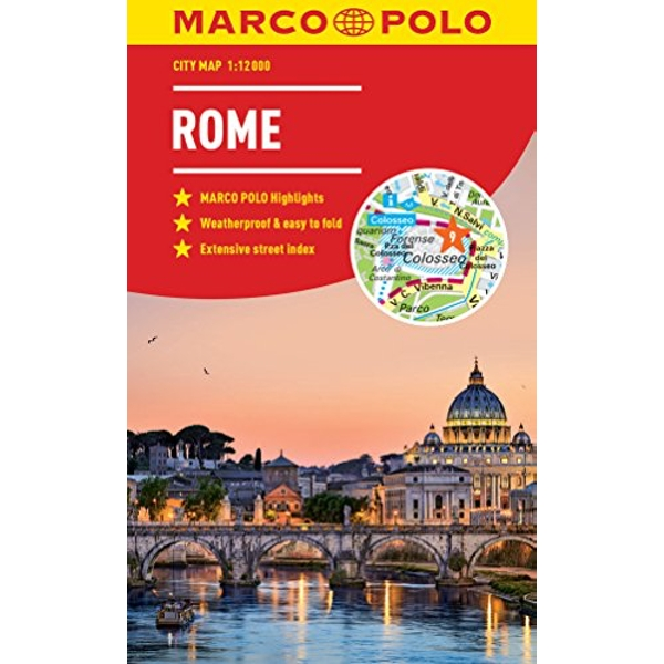 Rome Marco Polo City Map - pocket size, easy fold, Rome street map  Paperback / softback 2018