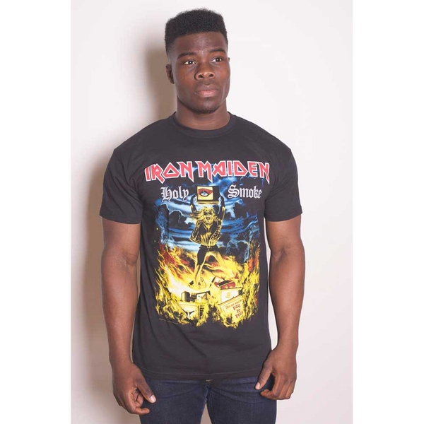 Iron Maiden - Holy Smoke Unisex Large T-Shirt - Black