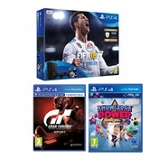 PlayStation 4 (500GB) Black Console FIFA 18 with Extra Dualshock + Gran Turismo + Knowledge Is Power Bundle