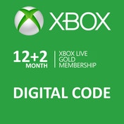 Xbox Live Gold 12 + 2 Month Membership Card Xbox 360 and Xbox One Digital Download