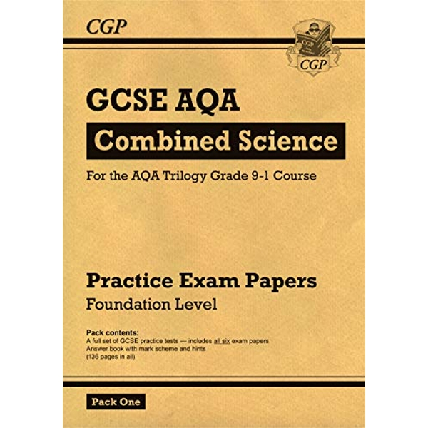 New Grade 9-1 GCSE Combined Science AQA Practice Papers: Foundation Pack 1 by CGP Books (Paperback, 2017)