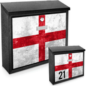 English Flag Printed Mail Box add your house number-name for a unique mail box!