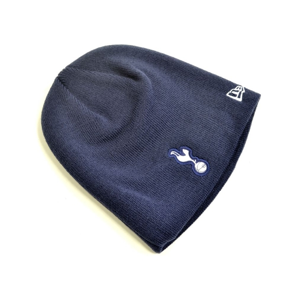 New Era Spurs Skull Essentials Knitted Beanie Hat Navy