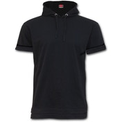 Urban Fashion Fine Cotton Hoodie Men's Small T-Shirt - Black