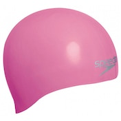 Speedo Moulded Silicone Caps Senior Pink
