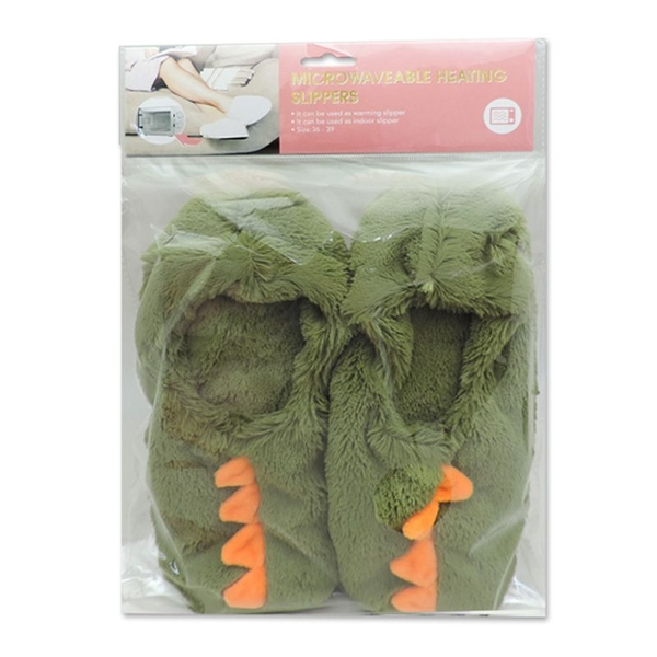 Dinosaur Heat Pack Toesties Warmer Slippers (One Size)