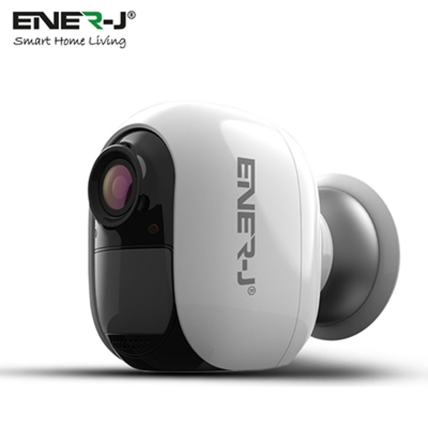 ENER-J Smart 1080P Full HD Wire-Free Battery-Powered WiFi IP Camera with Motion Detection and Night Vision