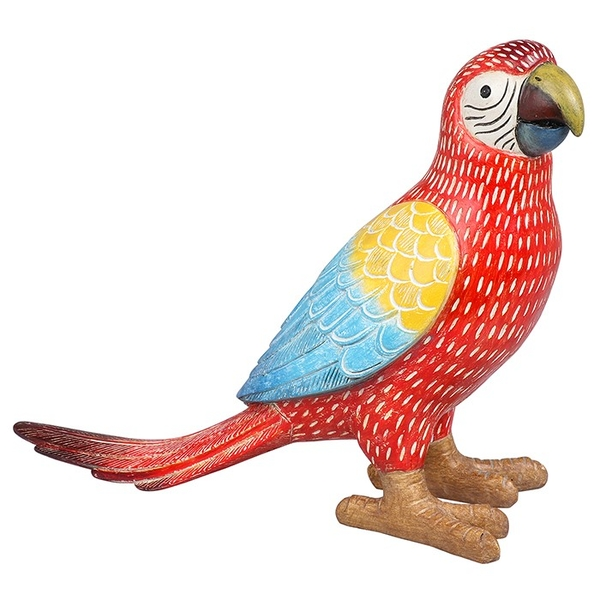 Scarlet Macaw Parrot Ornament