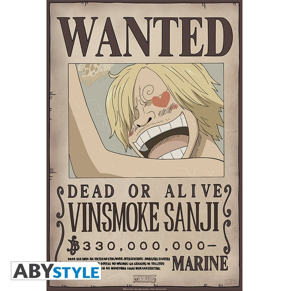 One Piece - Wanted Sanji New 2 (52 x 35cm) Small Poster