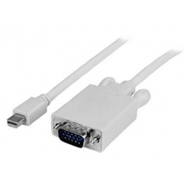 10 ft Mini DisplayPort    to VGA Adapter Converter Cable     mDP to VGA 1920x1200 - White