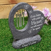 Thoughts Of You Graveside Stone Heart Windchime