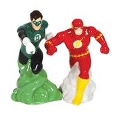 DC Comics Green Lantern and The Flash Salt and Pepper Shakers