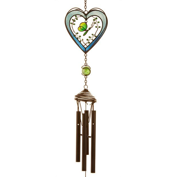 Blue Heart Windchime
