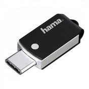 Hama C-Turn FlashPen 16GB Type-C USB 3.1/USB 3.0 100 MB/s Black/Silver
