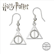 Harry Potter Embellished with Swarovski Crystals Deathly Hallows Earrings