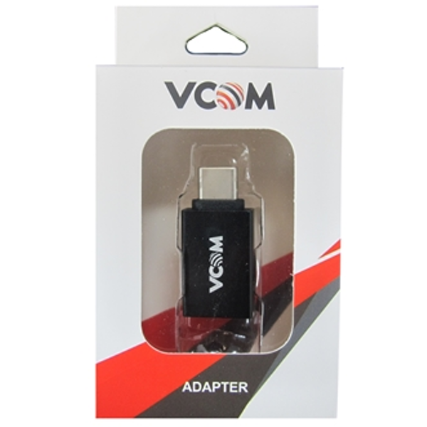 Image of VCOM USD 3.0 A (F) to USB 3.1 C (M) Black Retail Packaged Converter Adapter