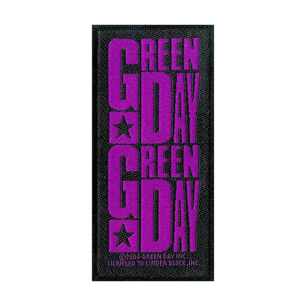 Green Day - Purple Logo Standard Patch