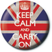 Keep Calm and Carry On - Union Jack Badge - Image 2