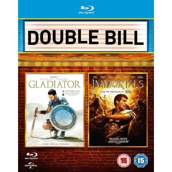 2 Film Collection - Gladiator + Immortals Blu-Ray