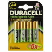 Duracell Rechargeable Staycharged AA 4 Pack Batteries 1950mAh