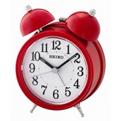 Seiko QHK035R Bell Alarm Clock with Light and Snooze Red