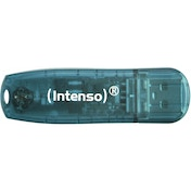 Intenso 3502450 4GB Rainbow USB 2.0 Flash Drive - Transparent Blue