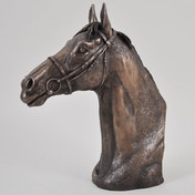 Horse Racing Thoroughbred by David Geenty Cold Cast Bronze Sculpture