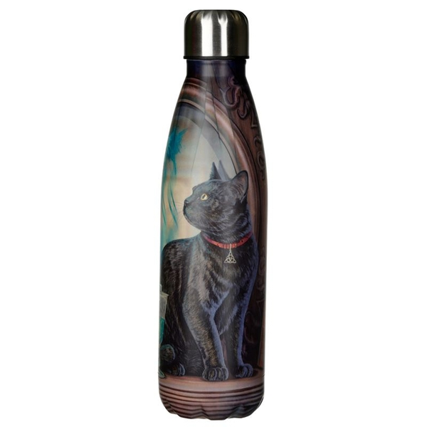 Lisa Parker Absinthe Cat Reusable Stainless Steel Hot & Cold Thermal Insulated Drinks Bottle 500ml