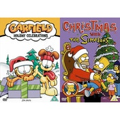 Holiday Double Pack Garfield Holiday Celebration & Christmas with The Simpsons DVD