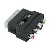 Hama Video Adapter, S-VHS socket/3 RCA sockets - Scart plug, 4 pins