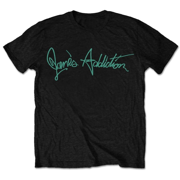 Jane's Addiction - Script Unisex Large T-Shirt - Black