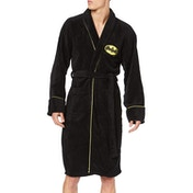 Classic Batman (DC Comics) Unisex Fleece Dressing Gown Black