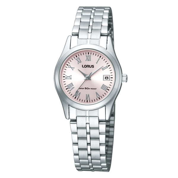 Lorus RH731BX9 Ladies Silver Bracelet Watch with Pink Dial